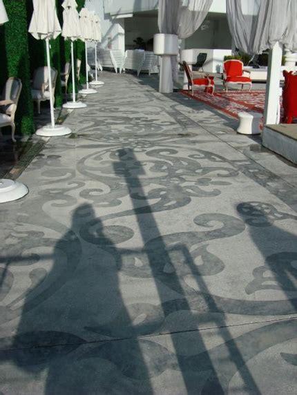 Sandblasted concrete paving   PAVING   Concrete paving