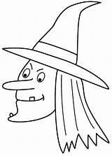 Witch Coloring Halloween Pages Witches Face Printable Drawing Easy Spider Simple Drawings Scary Draw Line Sheets Cute Cartoon Pumpkin Print sketch template