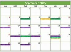 Template For Monthly Calendar Of Events Calendar