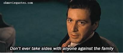 Godfather Quotes Pacino Al Corleone Michael Never