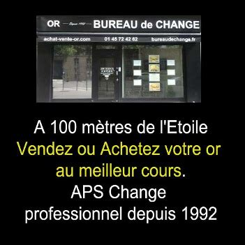 achat vente or bureau de change aps