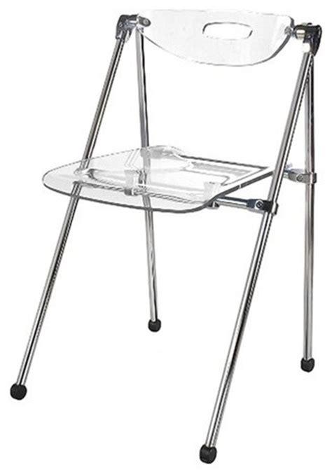 mod imports acrylic folding chair clear modern