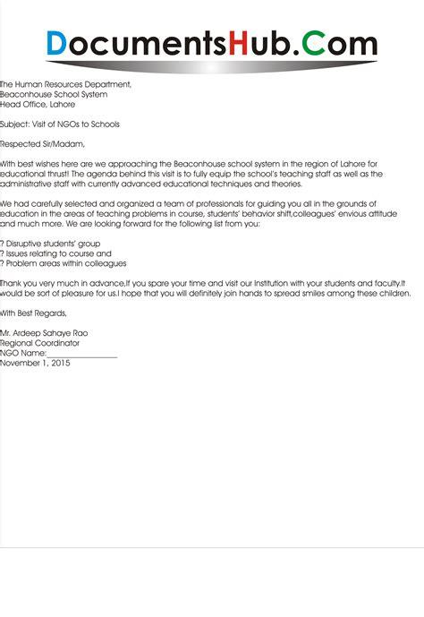 invitation letter  ngos  educational institutions