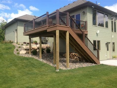 Two Story Deck Stair Designs