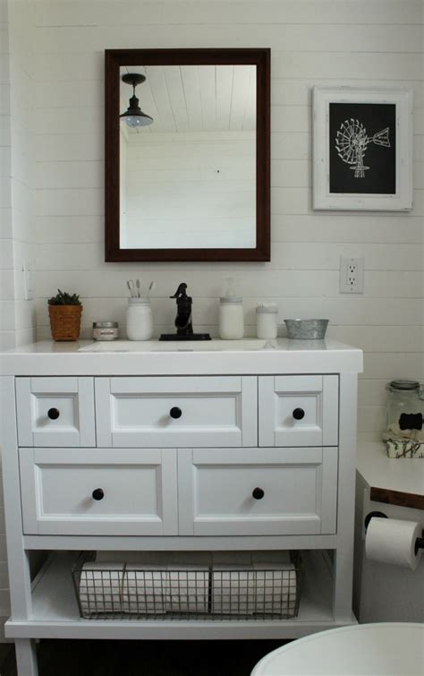 choosing   farmhouse bathroom vanity knick  time