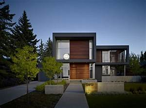 Modern House Facade Design with Wooden and Glass | New ...