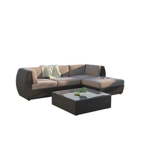 chaise pc curved 5 pc sofa chaise lounge patio set pps 604 z