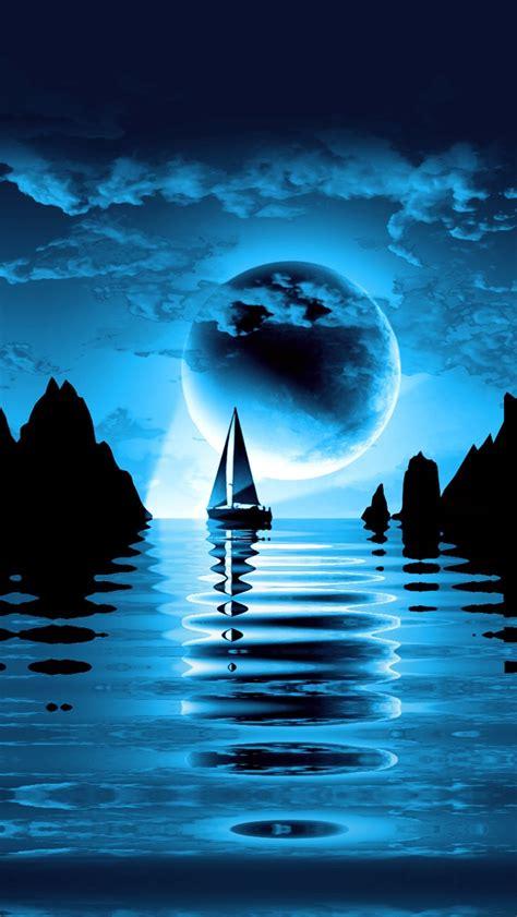 night sea landscape iphone     iphone