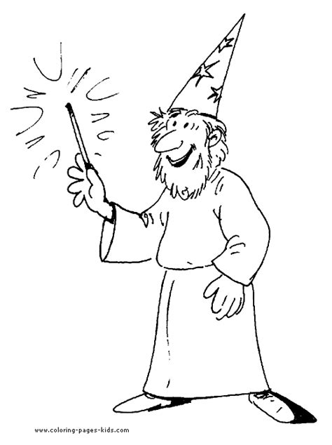 wizard coloring pages getcoloringpagescom