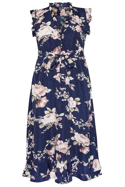 izabel curve navy floral maxi dress  sizes