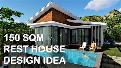 rest house design idea  sqm konsepto designs youtube