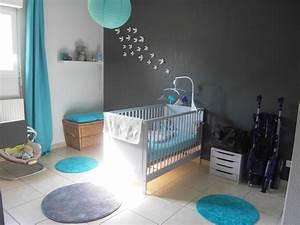 Chambre Gris Et Bleu : chambre bebe gris blanc bleu on galerie et chambre bebe ~ Melissatoandfro.com Idées de Décoration