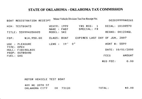 Oklahoma Motor Vehicle Registration