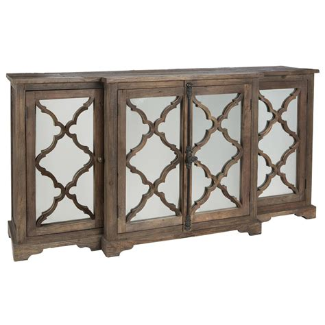 Wood Sideboard Buffet by Wayside Wood Buffet Sideboard Cabinet With Glass Paneled Door