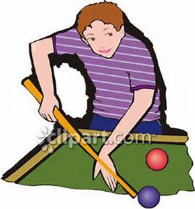 Playing Pool Clipart