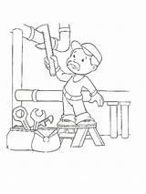 Plumber Klempner sketch template