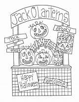 Lantern Jack Halloween Booth Digi Dearie Freedeariedollsdigistamps Coloring Stamps Ellen Smith Dolls sketch template