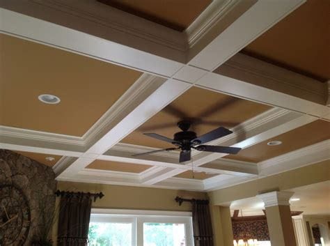 coffered ceiling construction  vaulted coffered