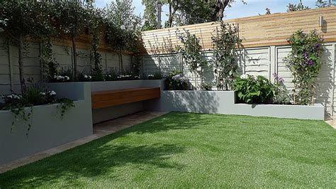 Articicial Grass Trellis Hardwood Painted Fence Dulwich