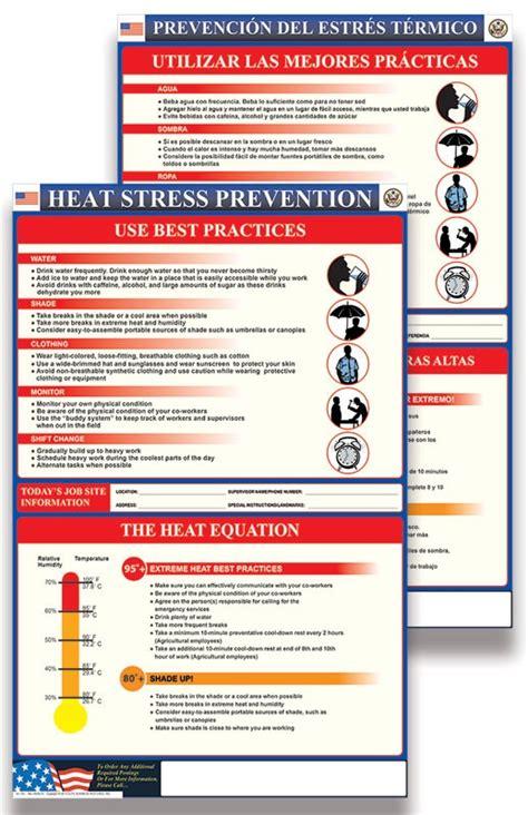 heat stress jobsite safety kit oshaless