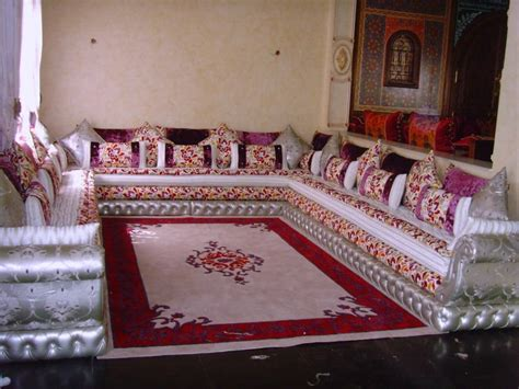 modeles de salon tapissier marocain decor salon marocain