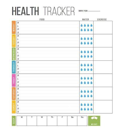 health tracker template monthly calendar templates