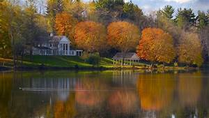 lake, , at, , autumn, , amazing, , landscape, , nature, , beauty, , house, , lake, , sky, , clouds, wallpapers, hd