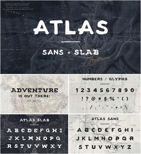 atlas sans  slab font