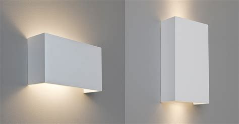 astro pella rectangular plaster ceramic wall light