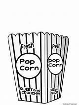 Popcorn Coloring Clipart Bag Printable Pages Clip Bucket Box Template Crafts Carnival Tub Empty Preschool Theme Printables Circus Letters Bags sketch template