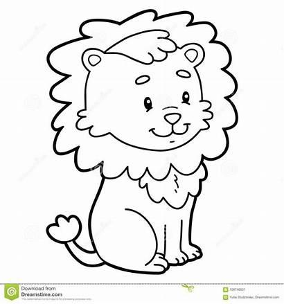 Lion Coloring Cartoon Pagina Colorear Het Leon