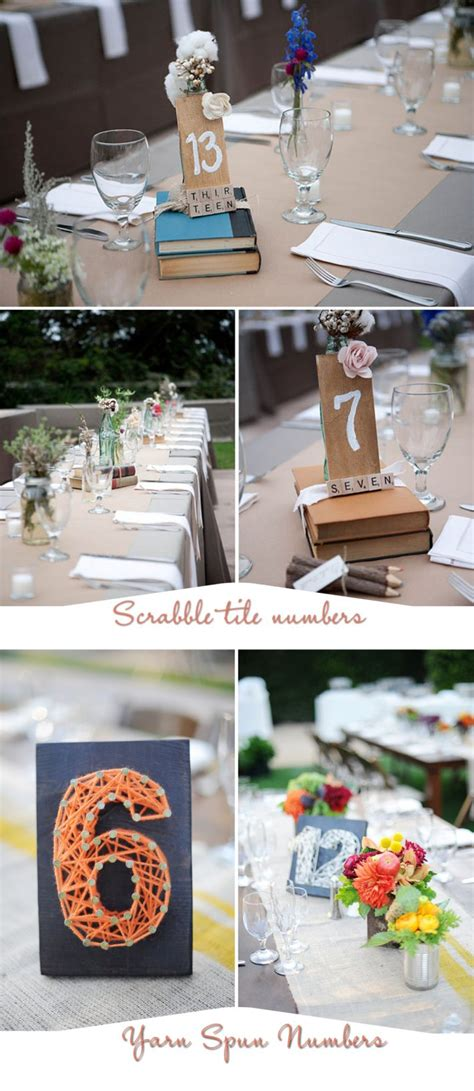 Five Table Number Ideas For Your Homespun Chic Wedding