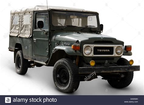 Toyota Land Cruiser Suv Truck Isolated Over White Cutout