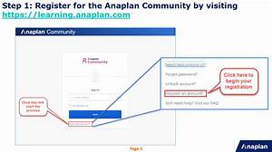 Instructions For The Anaplan Academy Learning Cent