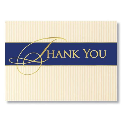 Classic Business Thank You Card