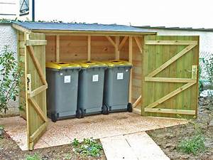 Abri poubelles en bois 120mx220m cerisier abris de for Cerisier abri de jardin