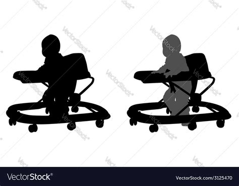 Icon in.svg,.eps,.png and.psd formatshow to edit? Baby walker Royalty Free Vector Image - VectorStock