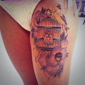 Related Keywords & Suggestions for open bird cage tattoo