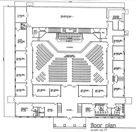 church floor plans free church plan 131 lth steel structures