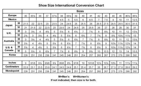 shoe size chart slippers pinterest shoe size chart crochet chart  crochet