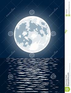 Vector Illustration Of Full Moon Royalty Free Stock Images ...