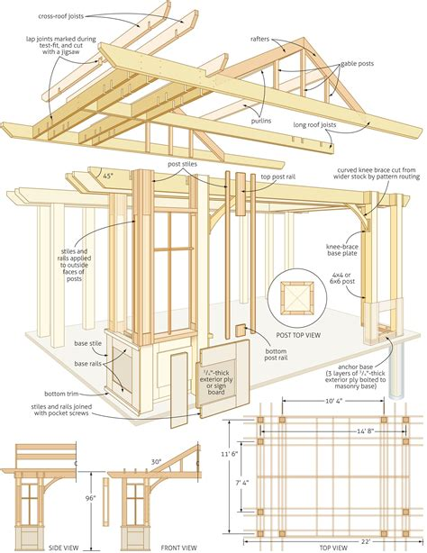 timber pergola construction details architectural
