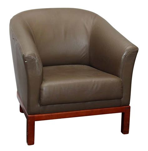Tan Leather Arm Chair  Olde Good Things