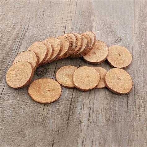 pcs  cm wood log slices discs cutout circle