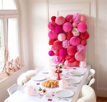 Wall Party Diy Paper Pink Decoration Pom