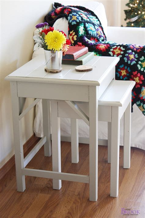 Pottery Barn Nesting Tables by White Nesting Side Tables Diy Projects