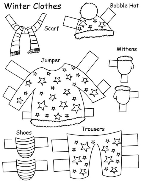 seasons clothes paper doll learningenglish esl
