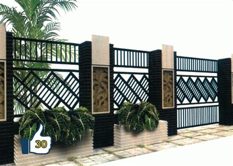 minimalist wall fence models home design   house fence design door gate design