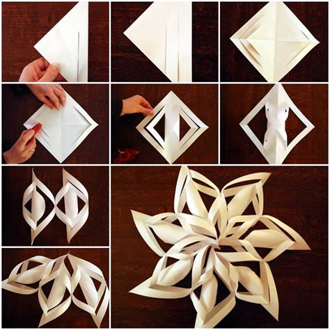 diy  paper snowflake ornaments beesdiycom