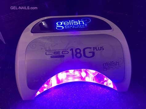 gelish 18g led l cosmoprof gelish high performance led gel light 18 plus gel nails